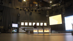 Empty TV Studio before the show Footage