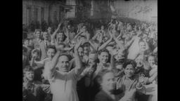 WWII Italy: Naples is Liberated, Cheering Crowds Greet Allied Troops Footage