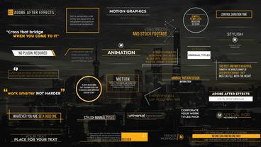 30 Modern Simple Titles After Effects Template