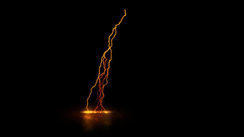 Orange Static Lightning on the Ground Loopable Motion Graphic Element Animation