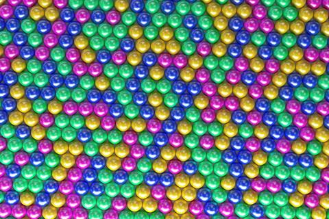 Pattern of coloreful spheres フォト