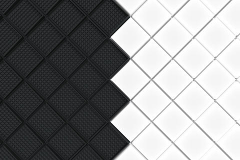 Futuristic industrial background made from black and white squar Photo