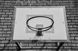 Basketball Hoop Black And White Photo Photo