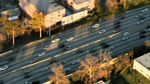 Aerial highway fly Footage