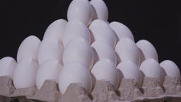 White chicken eggs. Eggs in rotation Live Action