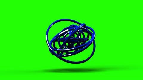 Loop Able Blue Circle Abstract On Green Chroma Key Animation