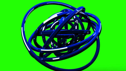 Loop Able Blue Circle Abstract On Green Chroma Key Videos animados