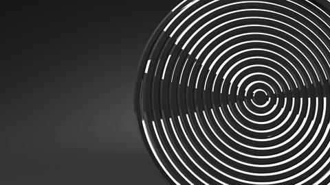 Loop Able Silver Circle Abstract On Black Text Space Animation