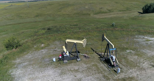 Oil production. Aerial view Filmmaterial