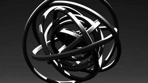 Spotlighted White Circle Abstract On Black Background Stock Video Footage