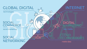 Global Digital World Infographic After Effects Template