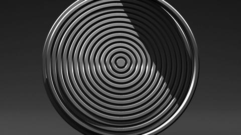 Spotlighted White Circle Abstract On Black Background Animation