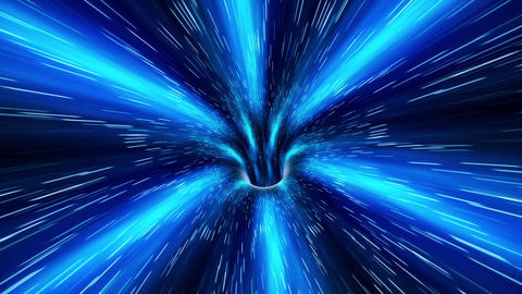 Abstract sci-fi Space Wormhole Tunnel Time Travel. Loopable Animation