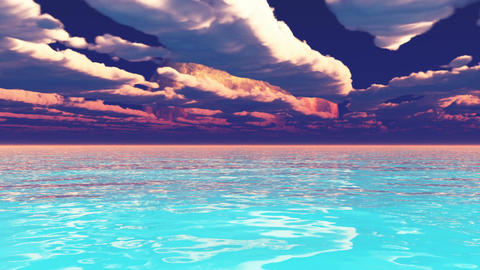 Ocean dream landscape space animation Animation