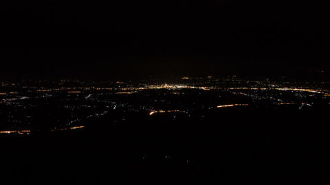 Lights city night from top on mountain time lapse Footage