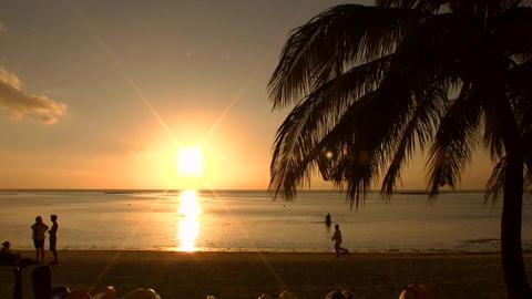 タモンビーチのサンセット ビデオ