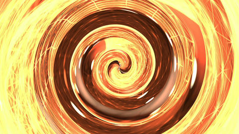 Orange and red hypnosis spiral loop Animation