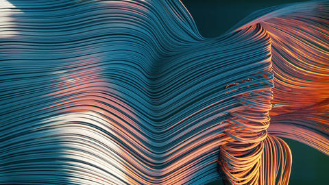 Abstract flowing glowing lines. Loopable Animation