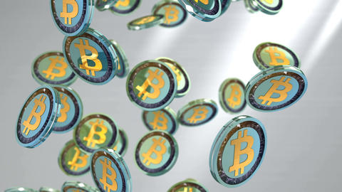 Editorial, Bitcoin cryptocurrency coin Animation