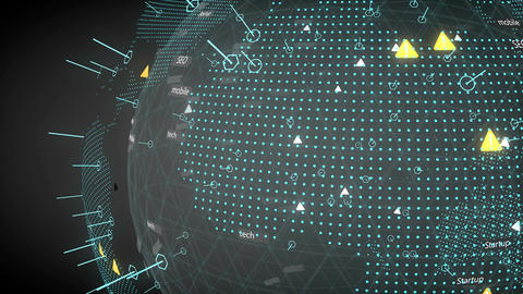 Technology and business background animation Animation