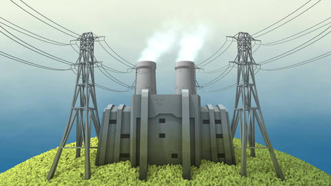 Coal power station Animation