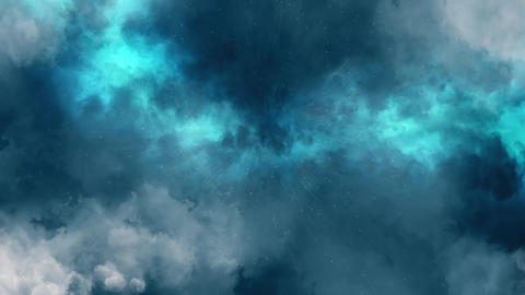 Blue Lightnings, Rain & Clouds Animation Motion Graphic Background Animation