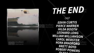 Final credits Premiere Proテンプレート