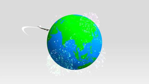 Earth & Airplane Animation