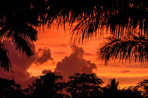 sunset of guam Photo