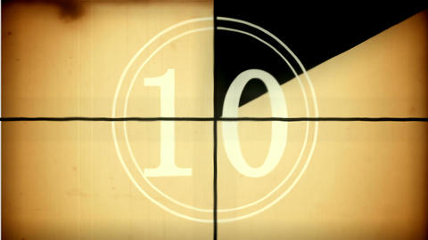 Countdown animation from 10 to 0. With nice vintage background Animation
