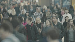 Urban. Many people. Crowd. Crowded street. Slow motion Footage