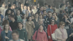 Crowd. Many people. A crowded street. Slow motion Footage