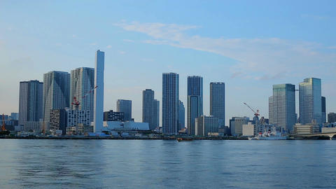 View of skyscrapers in Odaiba, Tokyo Bay Image