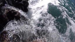 Ocean waves waterwall, slow motion Footage