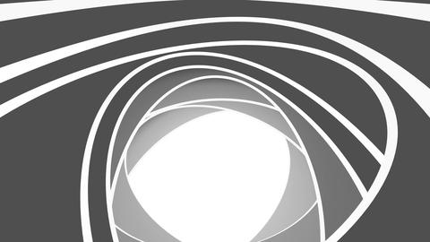Rotation of white ovals. Abstract background Animation