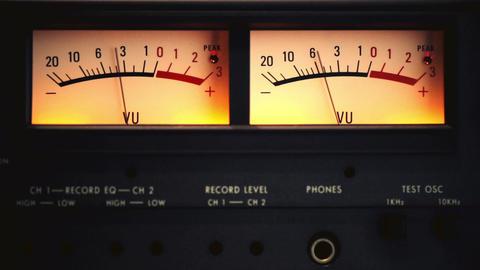 VU meter Footage