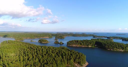 Finnish islands Cinema 4k aerial view flying over islands in uusimaa saaristo ar Footage