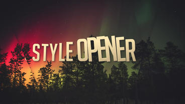 Style Opener After Effects Template