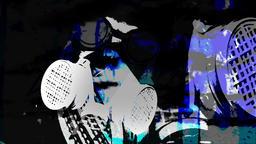 Respirator Face Blue 4K Animation