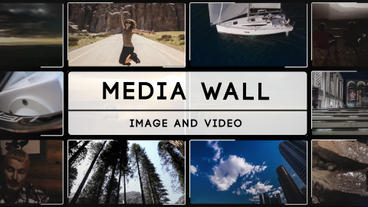 Media wall After Effects Template