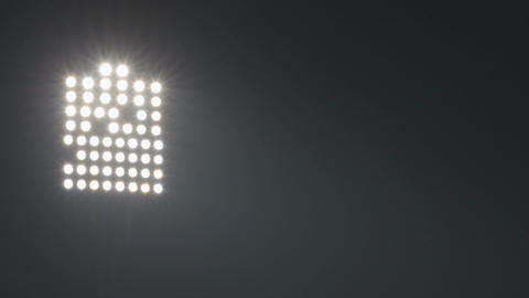 Night scene video with sport arena floodlights Archivo