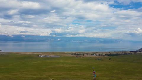 Panorama of the coast of Lake Baikal Live Action