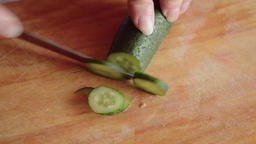 Slicing cucumber Footage
