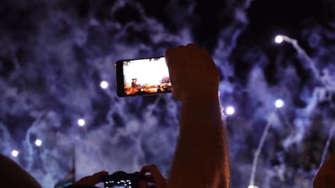 Recording Fireworks with mobile 画像