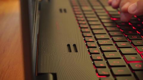 Typing on illuminated keyboard Footage