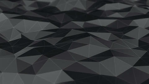 Background abstraction polygons dark Animación