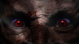 Demonic ugly face flag Animation