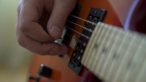 Playing electric guitar Footage