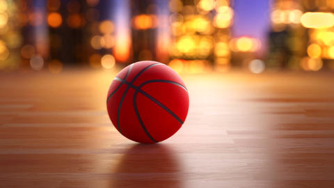 Basketball ball in motion Animation