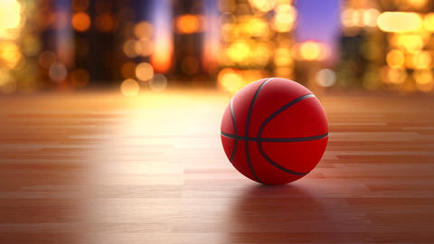 Basketball ball rotation Animation